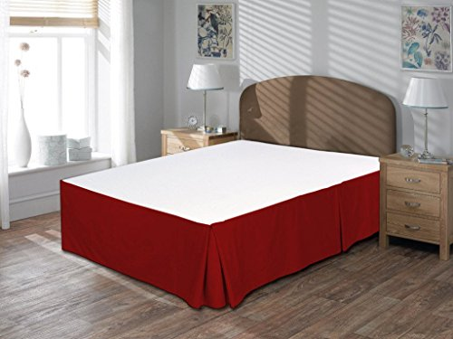 Home Decore Linen Luxurious Hotel Quality 800 Thread Count Egyptian Cotton Expanded Queen 1 Piece Bed Skirt 9 Drop Length Only Solid Burgundy