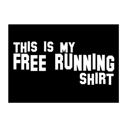 Teeburon THIS IS MY Free Running SHIRT Pack of 4 Stickers