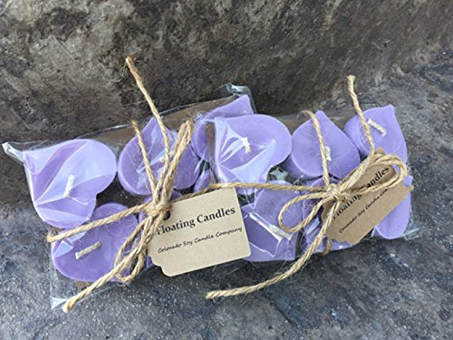 Floating candles Wedding candles Wedding centerpieces Soy candles Floating Hearts Purple candles