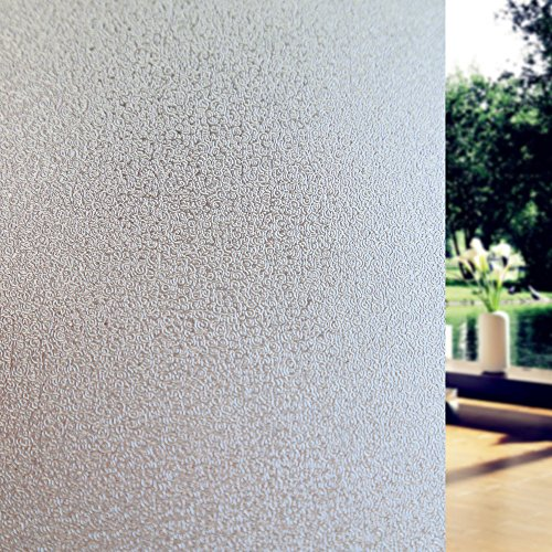 Fancy-fix Adhesive Free Static Decorative Frosted Privacy Window Films for Glass 354 Inches by 787 Inches