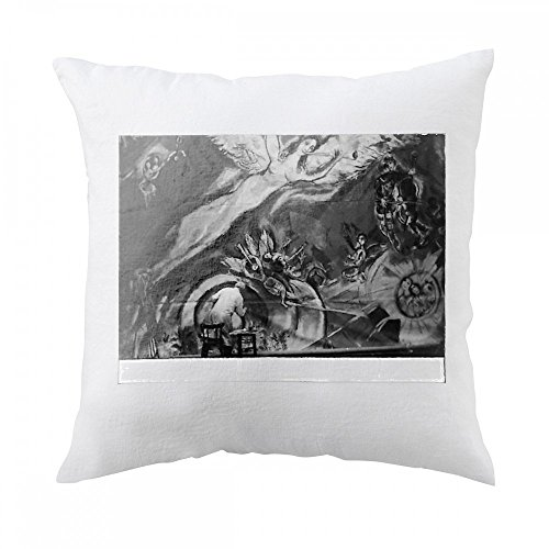 Marc Chagall working on large painting Pillow Cover