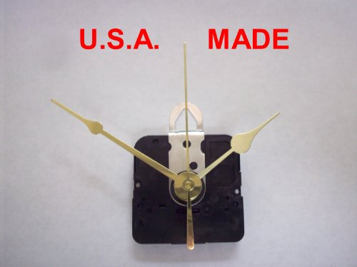 Quartz Clock Movement Kit with 1 Set of Hands and Second Hand for Dials up to 38 Thick