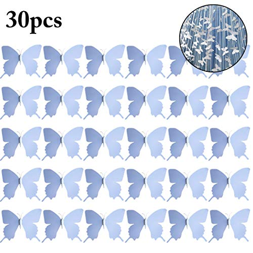 FunPa 30PCS Artificial Butterfly DIY Plastic Butterfly Decor for Wedding