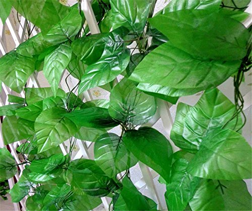 Mavee 86 feet Ivy Fake Foliage Garlands Decoration Wedding Party Artificial Greenery Vine Plants for Home Decor Indoor Outdoors Apple Leaves