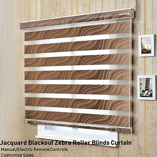 ManualMotorized Window Rainbow Jacquard Blackout Zebra Roller Blinds CurtainNOF056 Websize Priced at Manual1pc39 W x 39 LStandard Contact us for Customize Size