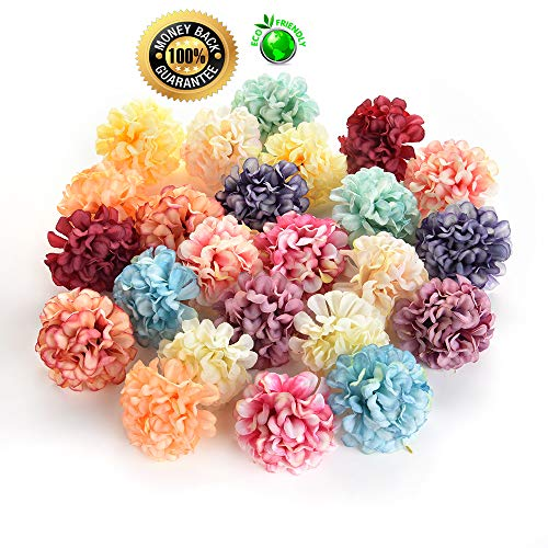 Silk flowers in bulk wholesale Fake Flowers Heads DIY Artificial Silk Flowers Head for Home Wedding Party Decoration Wreath Gift Box Scrapbooking Fake Flowers 30PCS 4cm Colorful