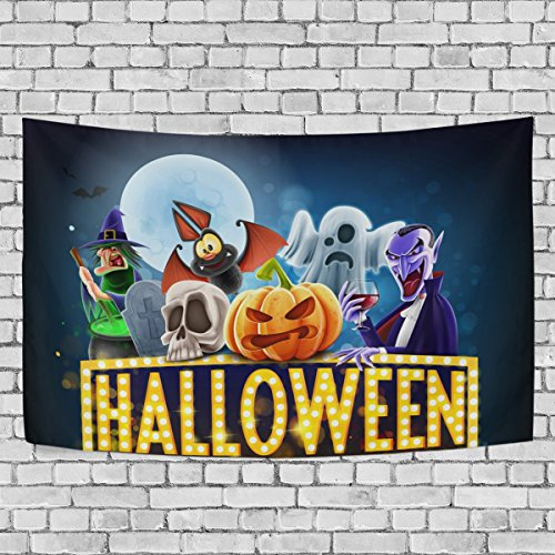 LORVIES Halloween Charaters Tapestry Wall Hanging for Home Wall Decorative for Living Room Bedroom Dorm Decoration 60X40
