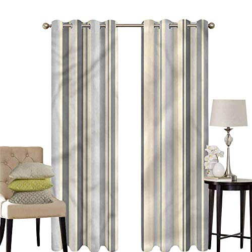 Aishare Store Blackout CurtainsAbstract Soft Lines Vintage ModernWindow Drapes for Babys Room W97 x L72 inch
