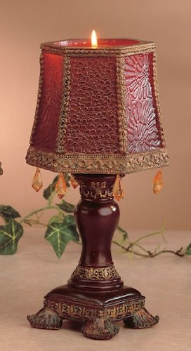 Moroccan Style Red  Orange Candle Lamp 2 Pcs Set House of Gifts