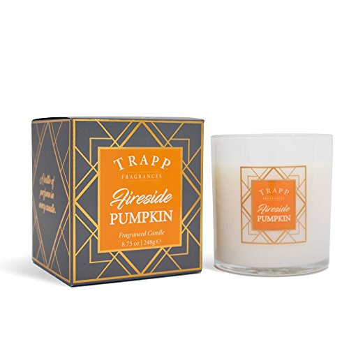 Trapp Candles Seasonal Collection Fireside Pumpkin Poured Scented Candle 875 oz