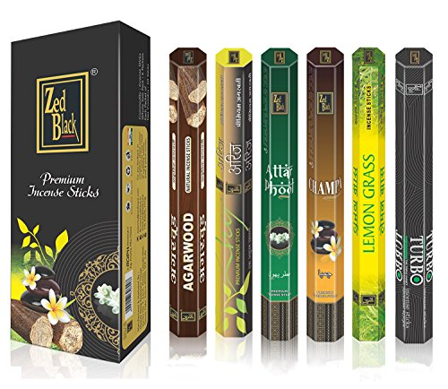 - Aroma Premium Fragrance Sticks - Pack of 6 - Serene and Enthralling 120 Incense Sticks – Feel the Natural Fragrances with Scented Oil Sticks