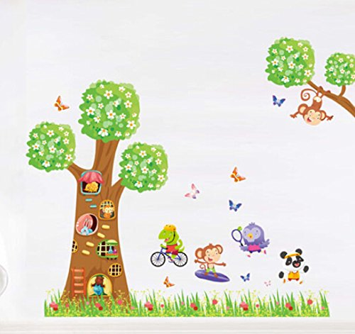 EUNA New Funny Seven Small Toilet Bathroom Paper Wall Deco Stickers
