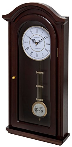 Fox and Simpson FSSW315 Burnley Walnut Pendulum Clock with Westminster Chimes