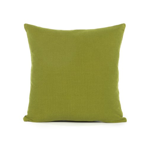 18 X 18 Solid Olive Green Throw Pillow Cover