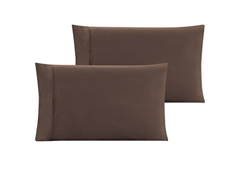 QUEEN size Solid CHOCOLATE BROWN Pillow Cases 1500 Thread Count Egyptian Quality 2 piece set Silky Soft Wrinkle Free