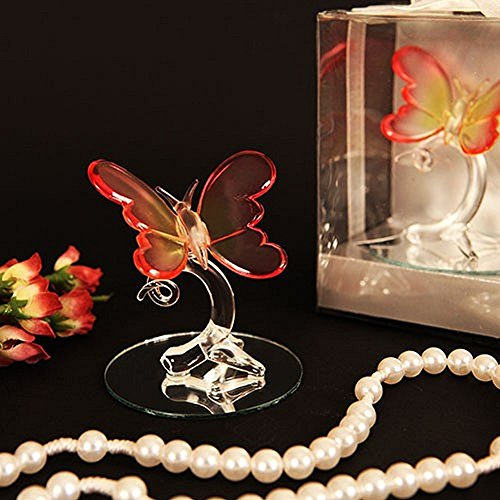 Venetian Butterfly Murano Glass Figurine - Set of 12