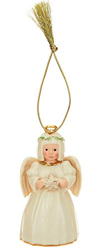 Lennox Holiday Cheer Angel Porcelain Ornament with 24K Gold