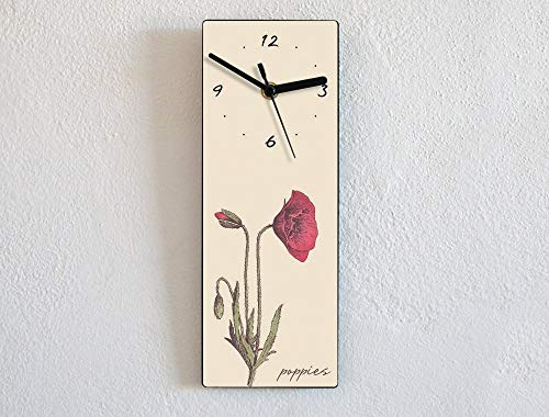 Poppies Flowers - Wall Clock