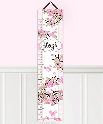 Toad and Lily GC0006 Cherry Blossom Girls Personalized Canvas Growth Chart