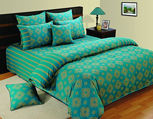 Yuga Home Décor Dark Turquoise Cushion Cover Large 24 X 24 Inches Decorative Pillowcase 2 Pcs