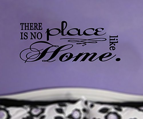 Wizard Oz There is no place like home Quote BLACK Vinyl Wall Decal by GMDdecals 28 x 12 inches Dorothy Housewarming Gift Home Decor