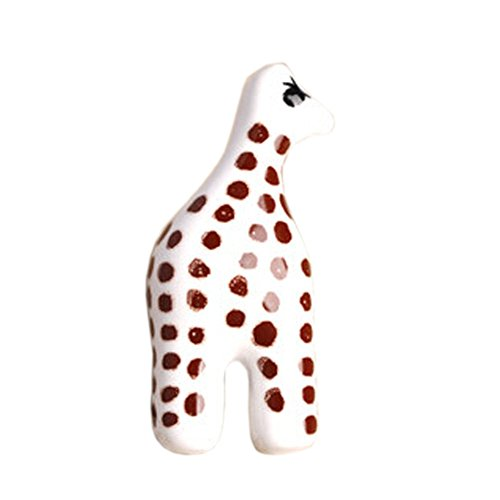 Set of 2 Cute Girraffe Ceramic Kids Drawer HandlesPullsDecors 190709