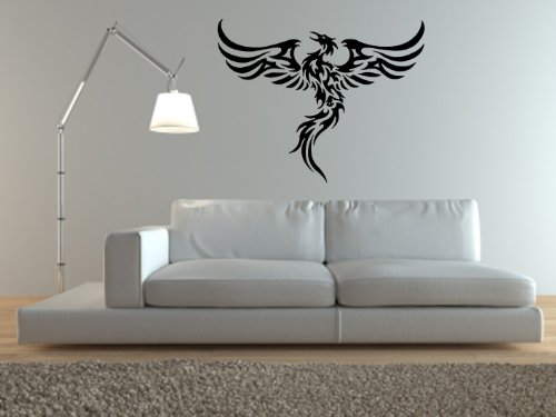 PHOENIX RISING FROM THE SUN Sticker Wall Art Mural Giant Large Decal Vinyl Size 495in 126cm W X 395in 100cm H - Large