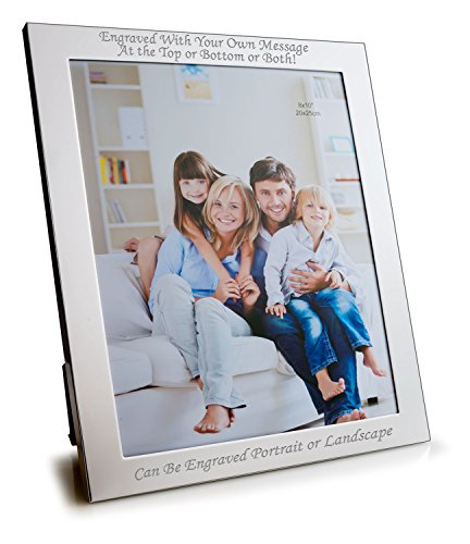 Personalised 10 X 8 Silver Plated Photo Frame - Can Be Engraved With Your Message by Engrave It Online