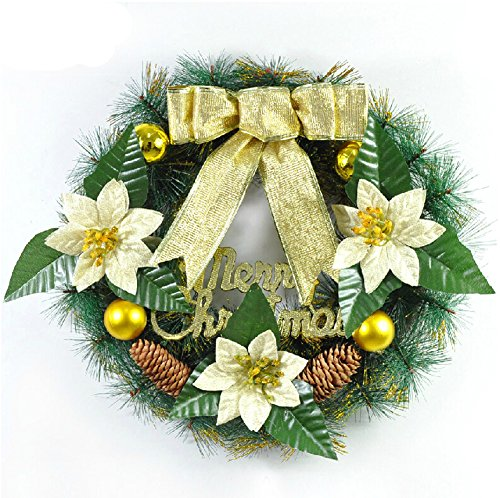 40cm Christmas Wreath Decoration Hanging Decoration Door Trim Christmas Ornaments
