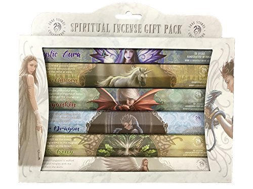 Pacific Giftware Fantasy Artist Anne Stokes Spiritual Aromatic 120 Incense Sticks Gift Pack Assortment 6 Tubes x 20 Incense Sticks