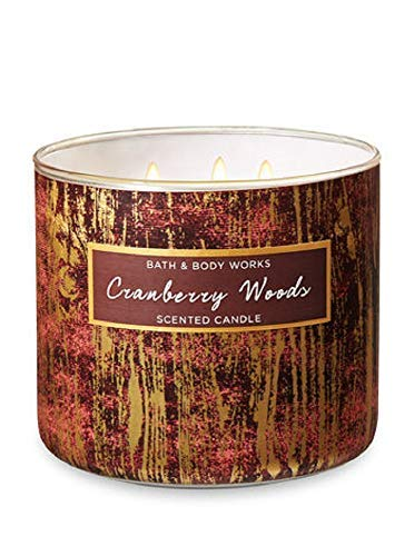 Bath Body Works 3-Wick Scented Candle in Cranberry Woods