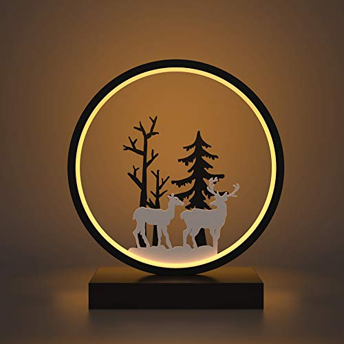 EDIER LED Table Lamp - Modern Bedroom Nightstand Lamp - Super Bright Bedside Table Reading Lamp - Warm Night Light for Kids RoomGreat On Side End Tables