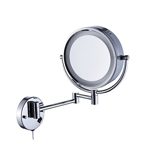 Cavoli Makeup Mirror with LED Lighted Wall Mounted 7x MagnificationChrome Finish 85-inch7x