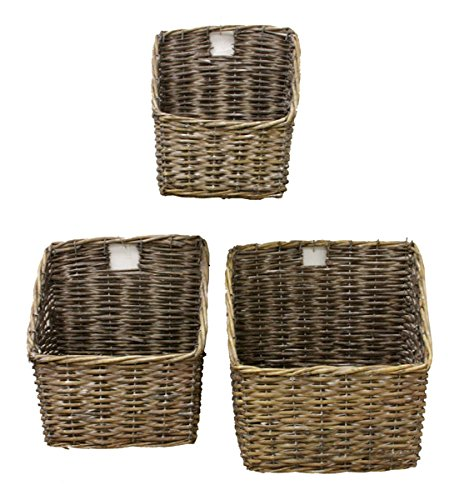 Renaissance 2000 3 Piece Willow Basket Set 9 by 5 by 10