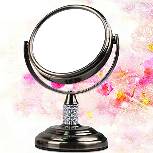 Crystal Mini Double Sided Makeup Mirror Portable 3X Magnification