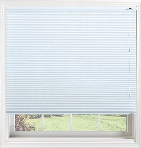 Bali Blinds 38 Custom Light Filtering Cellular Shade with Cord Lift Spa Blue 265 x 60