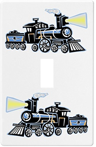 Railroad Train Wallplate Decorative Switch Plate Cover 1 Gang - Single Toggle