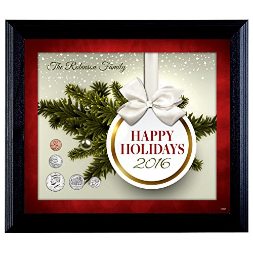 Personalized Happy Holidays Year To Remember Coin Frame