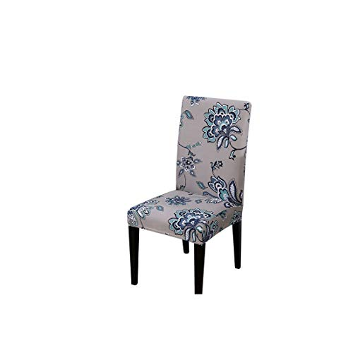 Flower Printing Chair Covers Spandex Stretch Elastic Slipcovers Universal Removable Chair Cover for Kitchen Dining Room Banquet1 MimosaUniversal