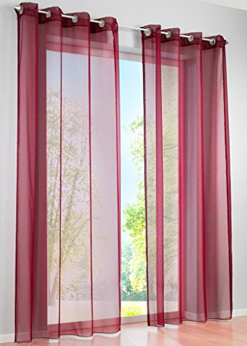 LivebyCare 1pcs Pinkycolor Sheer Window Curtain Panel Grommet Top Voil Window Treatment Drapery Drape Room Divider Partition Curtains Decorative for Play Room Saloon