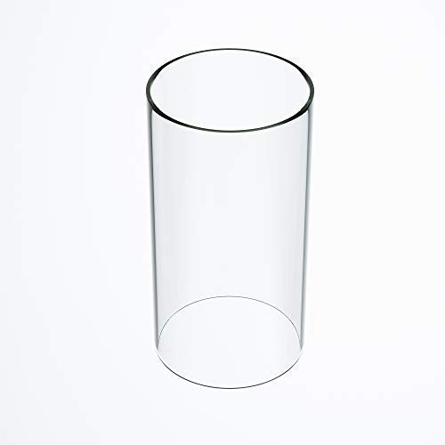 TLLAMP Large Size Hurricane Candle Holder Glass Glass Cylinder Open Both Ends Open Ended Hurricane Glass Lamp Shade Replacement 3 Wide x 14 Tall Multiple Specifications