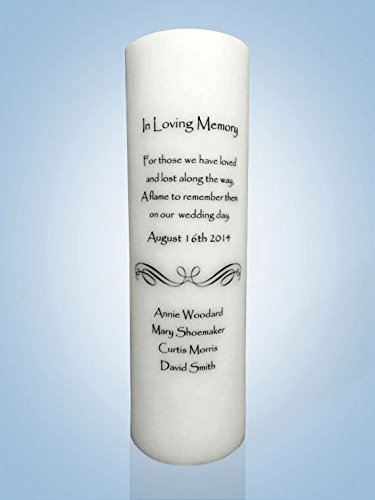 Personalized Candle Store Personalized Wedding Memorial Candle 6 Wick Candle