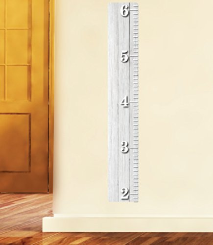 Nursery Decals and More White Wooden Ruler Growth Chart Wood Ruler Height Chart Wall Decal Wall Sticker