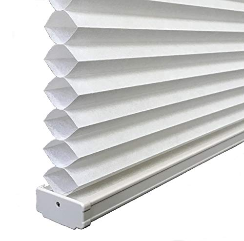 BlindDen Cotton White Light Filtering CellularHoneycomb Shades 70 Wide x 48 Long Cordless