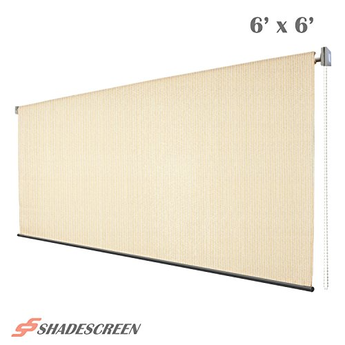 Roller Shade 6ft x 6ft Window Blind Roll Up Sun Shade UV Fabric Beige
