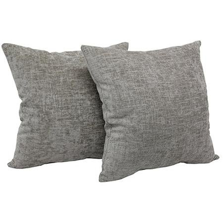 Color Beige Mainstays Chenille Throw Pillow Set of 2 Mainstays Pillows are Imported