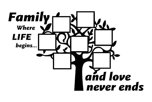 Family Tree Wall Decal is a Vinyl Wall Decal Displaying a Family Tree Picture Frame