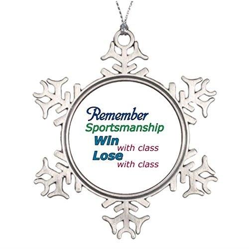 Metal Ornaments Xmas Trees Decorated Remember Sportsmanship Outdoor Christmas Tree Decorations Remember Sportsmanship