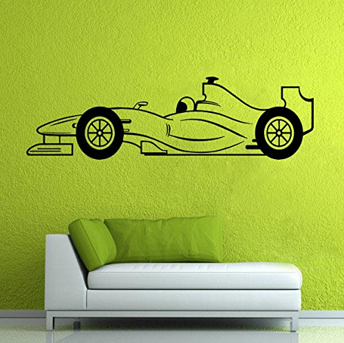 Formula One Vinyl Decal Sports Car Wall Poster Race Car Wall Design Boys Room Interior Decor 13faoe  Shipping from USA by Kellysdesigns
