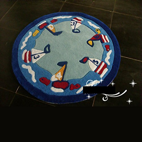Acrylic cartoon for children bedroom rugChildrens room rugs and mosaic carpet-A diameter140cm55inch